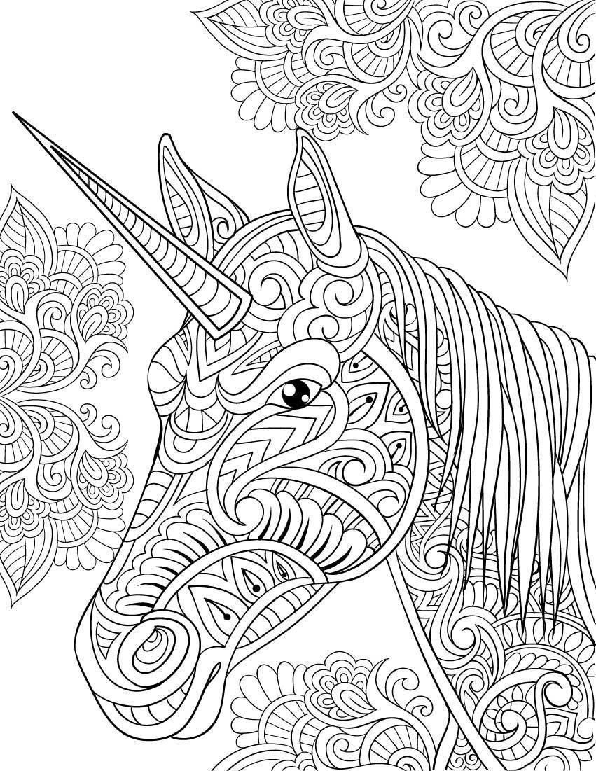 Adult Coloring Pages Unicorn at GetColorings.com | Free ...