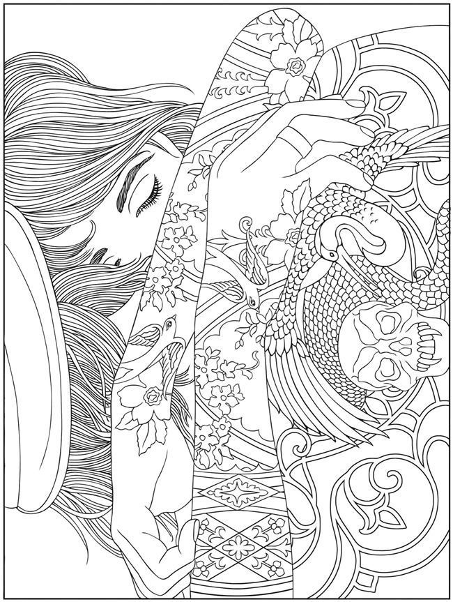 Adult Tattoo Coloring Pages