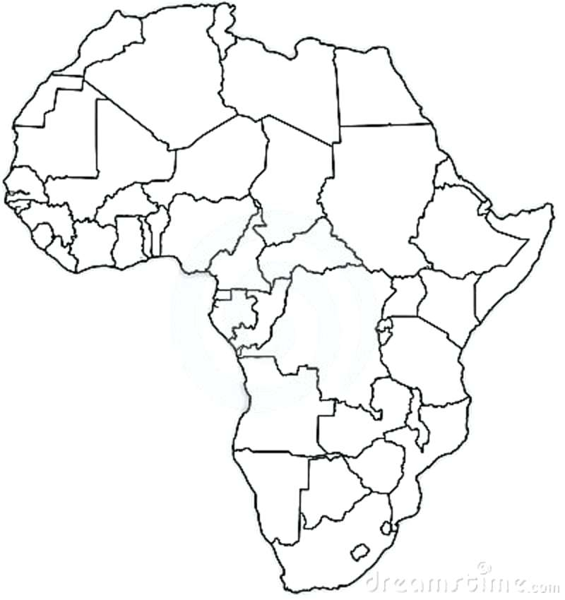 africa map coloring pages at getcolorings com free printable