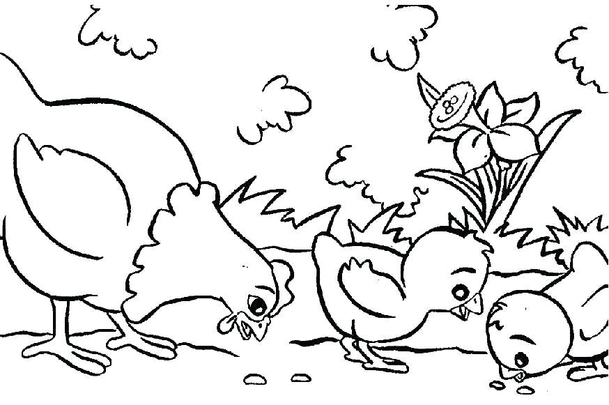 874x581 Free Printable Coloring For Kids Farm Animal Coloring Pages
