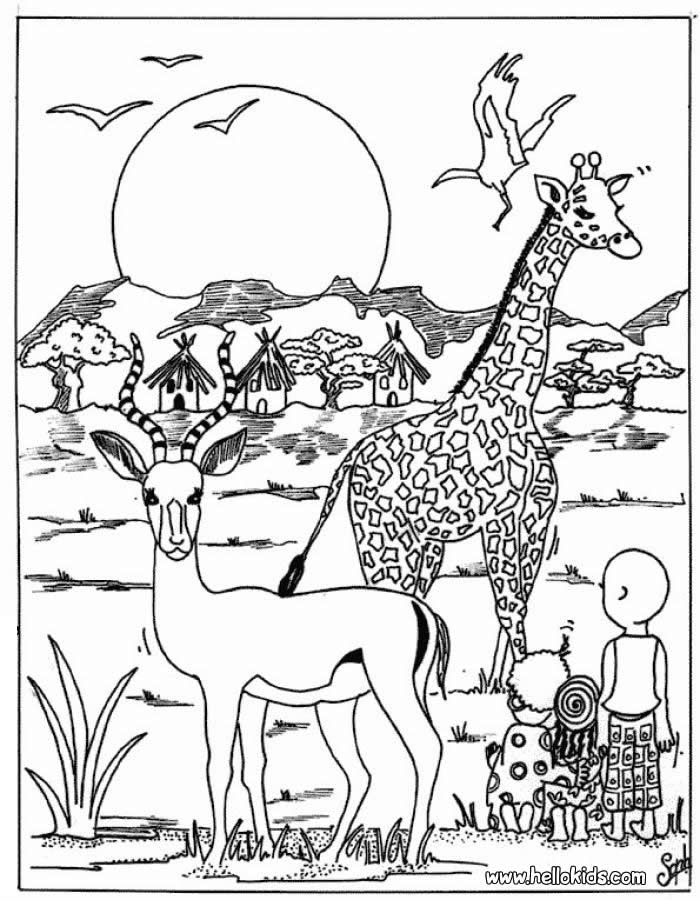 700x900 African Animals Coloring Pages