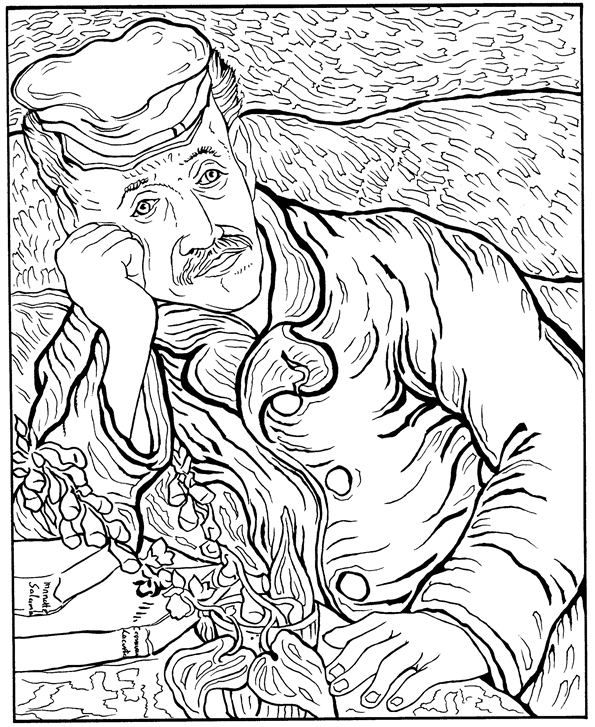 Art History Coloring Pages