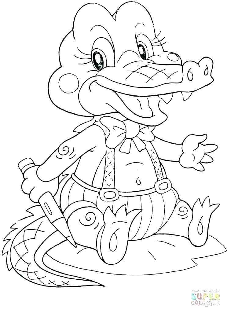 743x1024 Alligator Coloring Page Cheap Alligator Coloring Pages Online Top