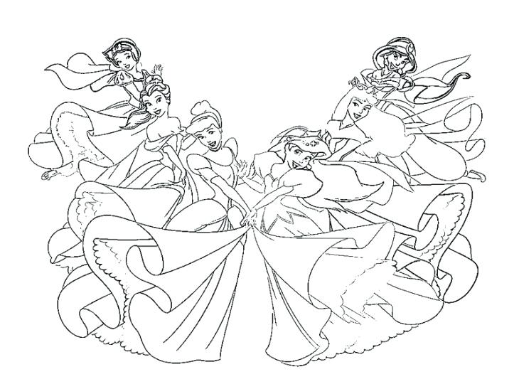 Baby Belle Coloring Pages