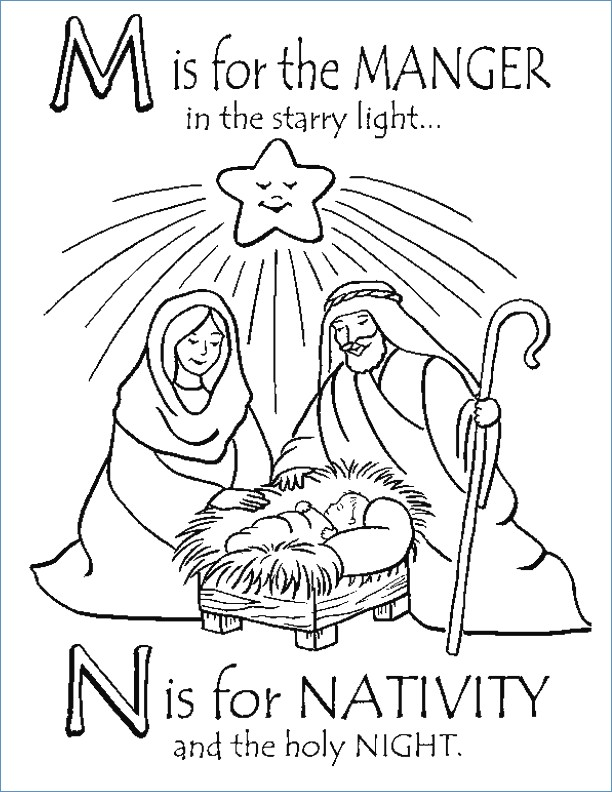 Baby Jesus Coloring Pages Printable Free