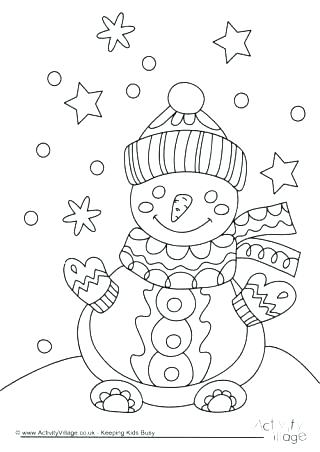 Blank Snowman Coloring Pages Printable