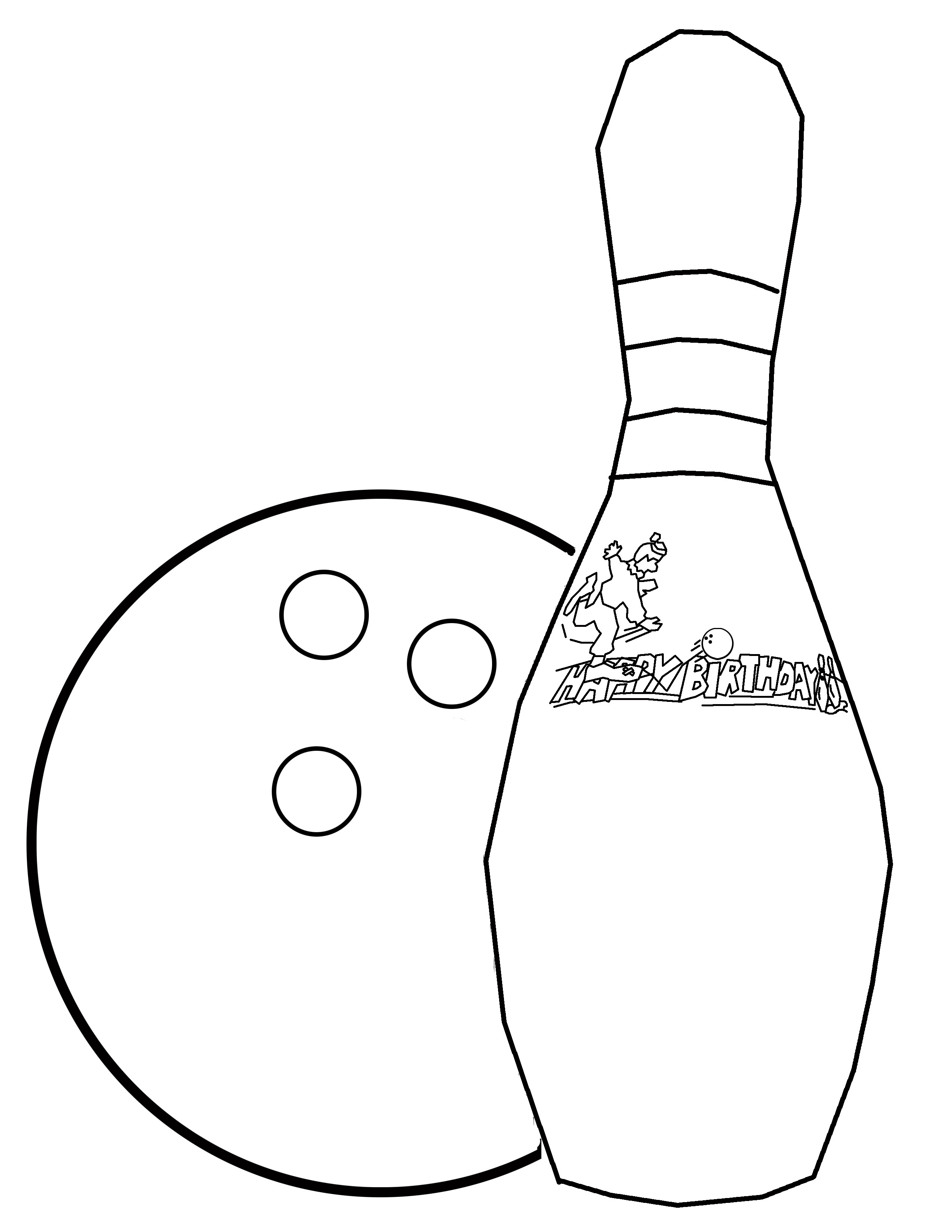 2550x3300 Bowling Coloring Pages Kids Party