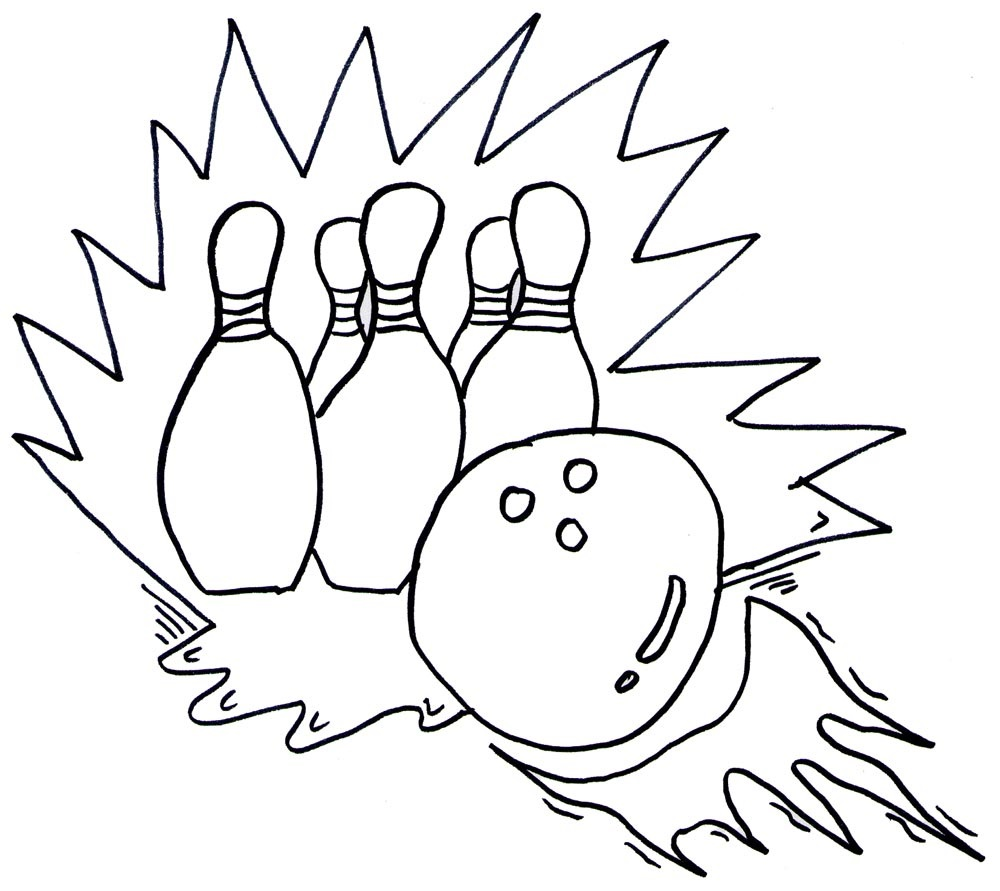 1000x891 Bowling Coloring Pages For Childrens Printable For Free