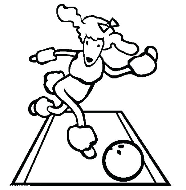 600x612 This Cute Poodle Play Bowling Coloring Page Free Printable Drawn