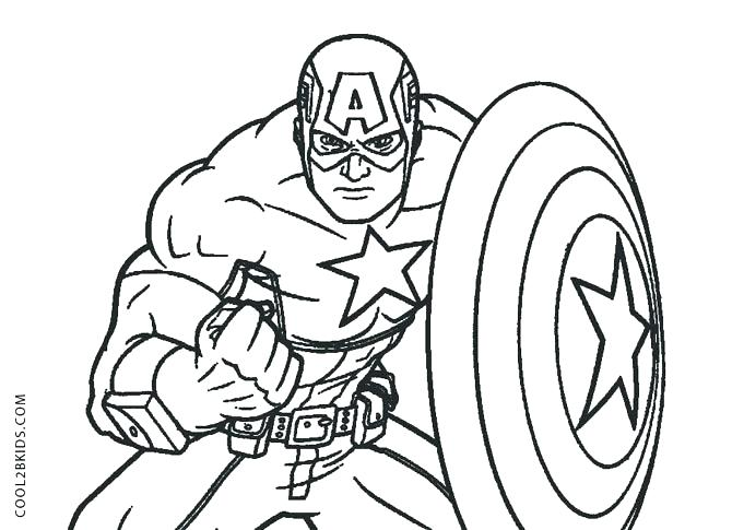 Captain America Shield Coloring Pages Printable At GetColorings.com