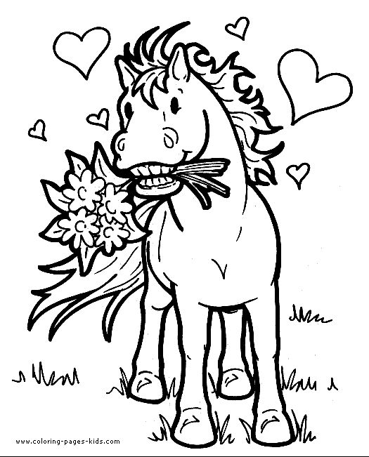 Cartoon Horse Coloring Pages
