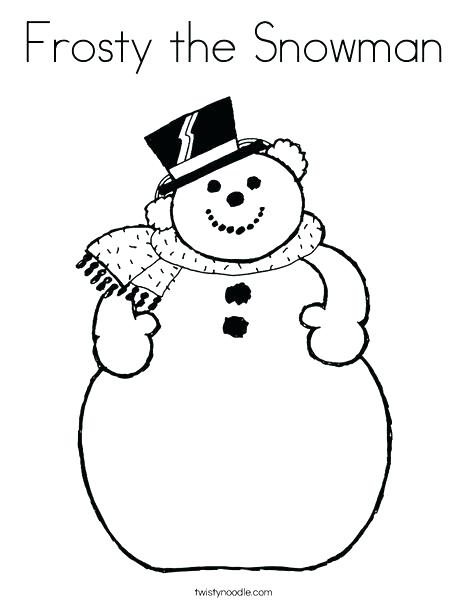 Cartoon Snowman Coloring Pages