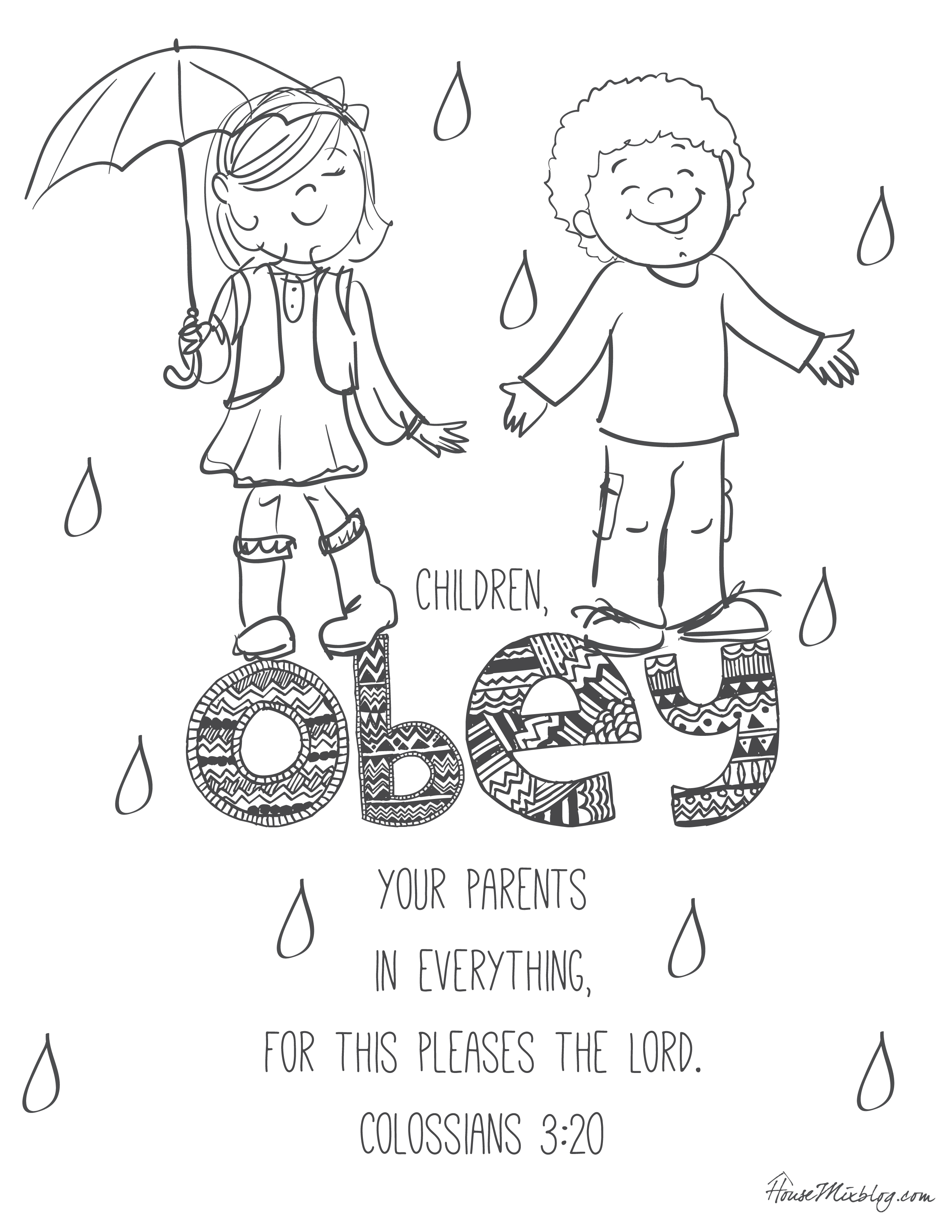 2550x3300 11 Bible Verses To Teach Kids (With Printables To Color) House Mix