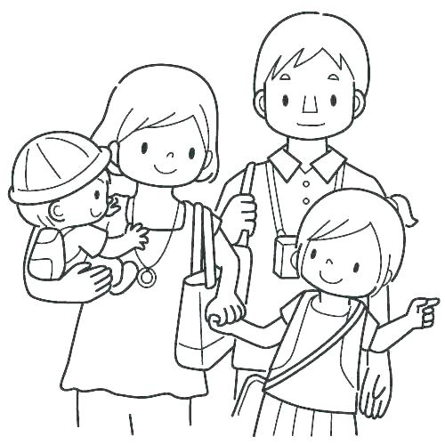 500x500 Parents Coloring Pages Obey Your Parents Coloring Page Obeying