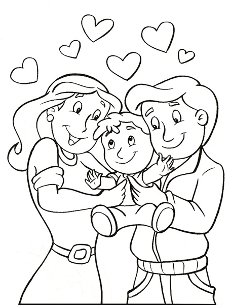 456x600 Respect Your Parents Coloring Page Coloring Pages