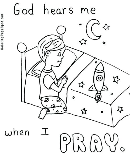 497x600 Child Praying Coloring Page Parents Coloring Pages Obedience