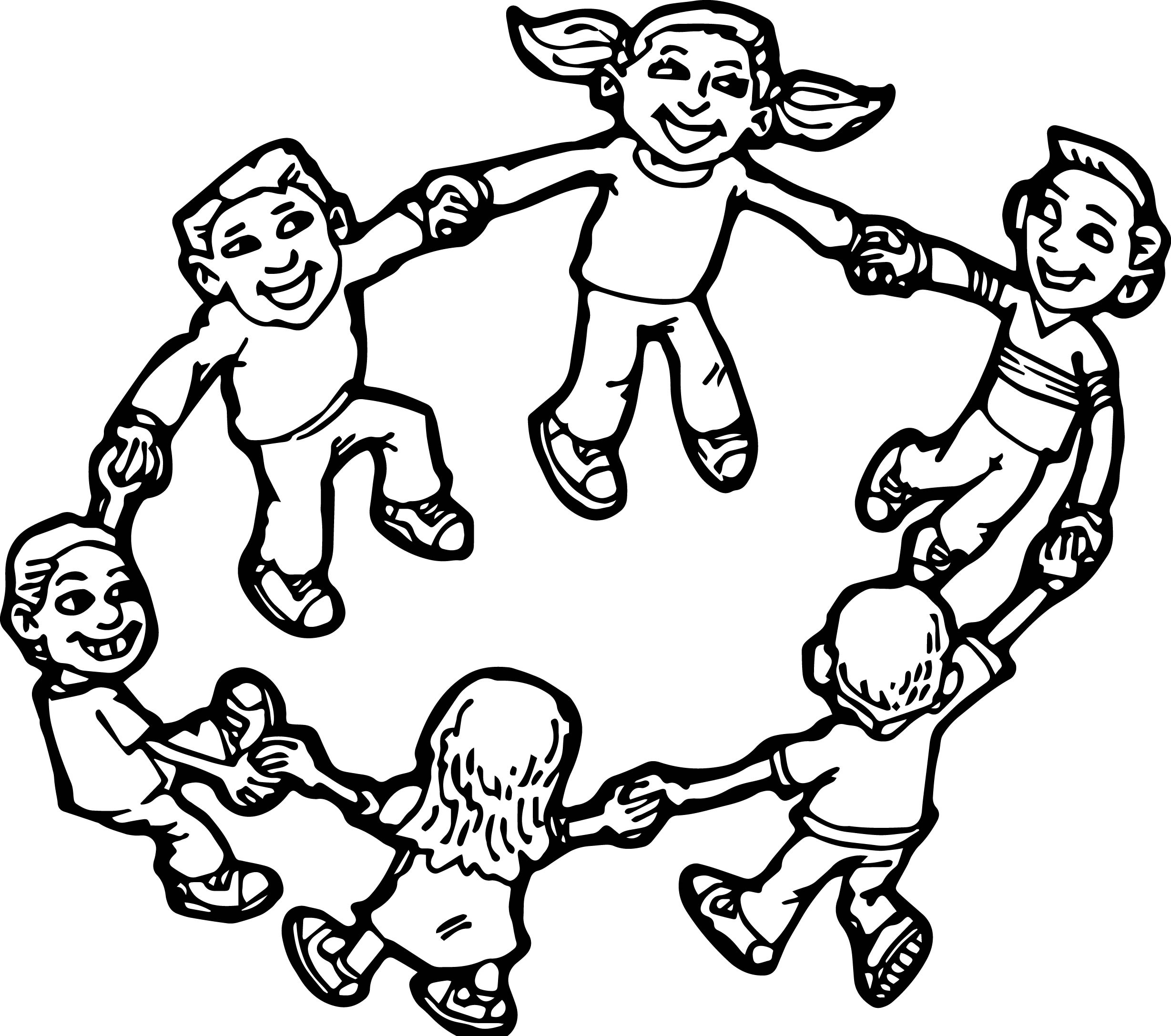 Children Playing Coloring Pages