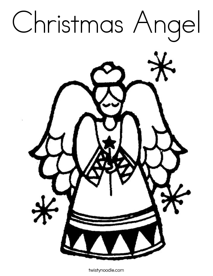 685x886 christmas angel coloring page