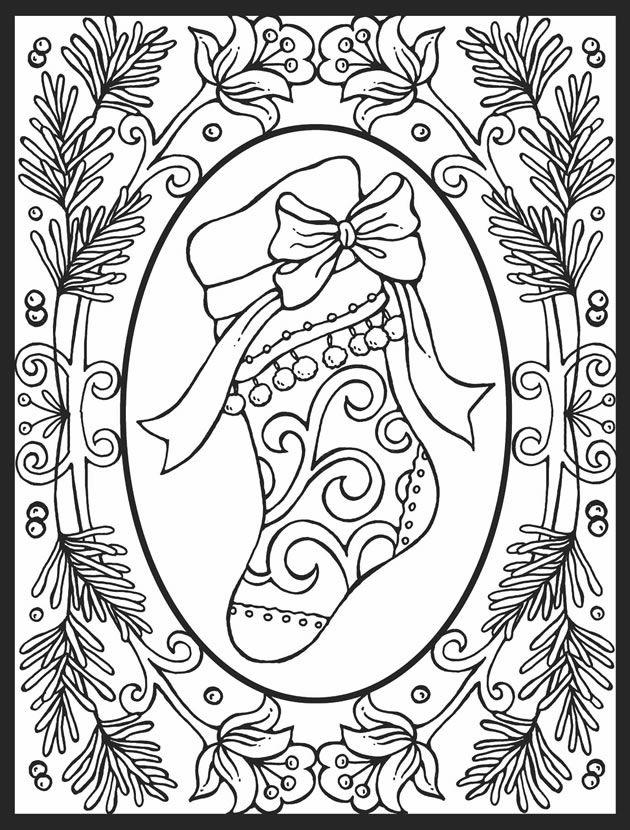 Christmas Mosaic Coloring Pages
