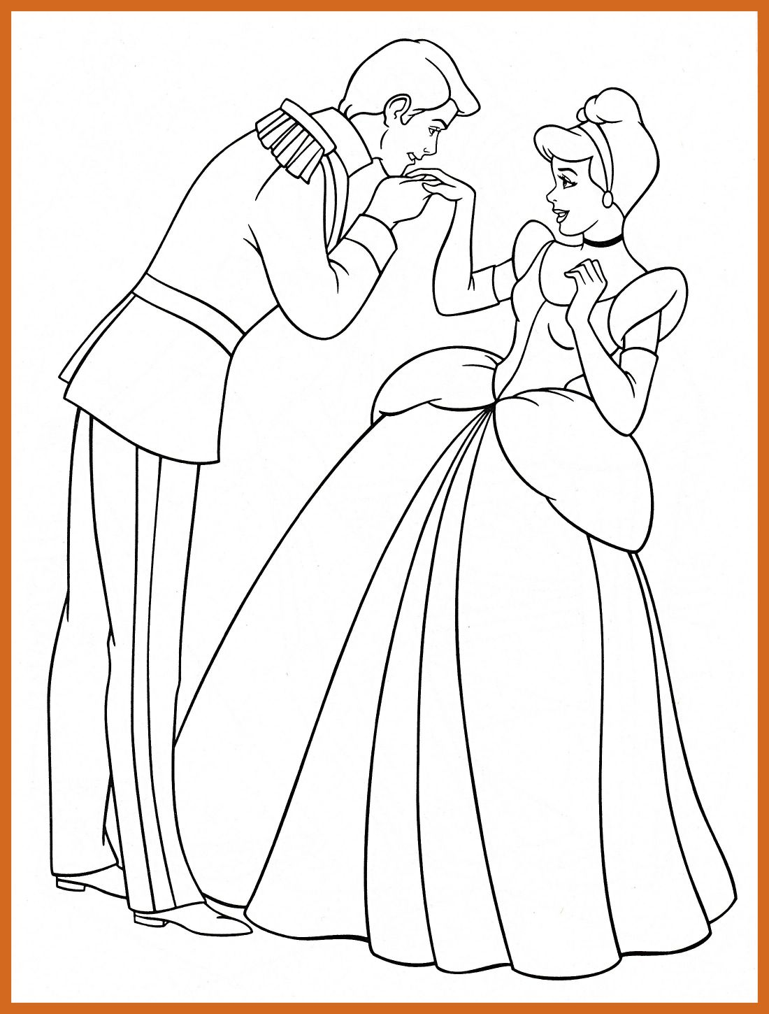Cinderella And Prince Coloring Pages at GetColorings.com | Free ...