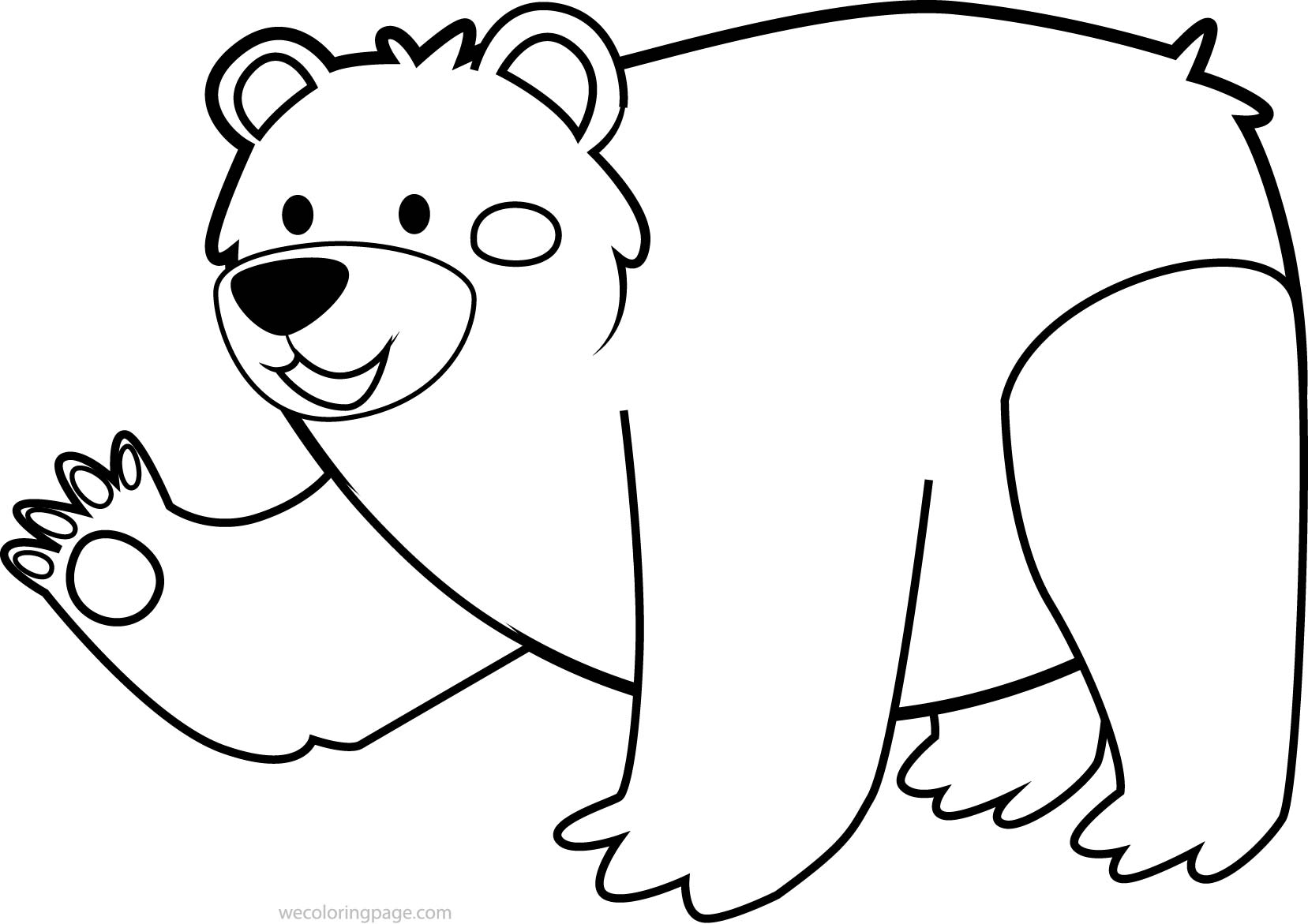 1657x1171 Free Colouring Pictures Of Bears Bear Coloring
