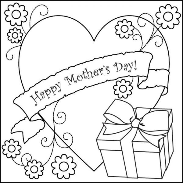 600x600 Free Printable Mothers Day Card To Color Free Printable Mothers