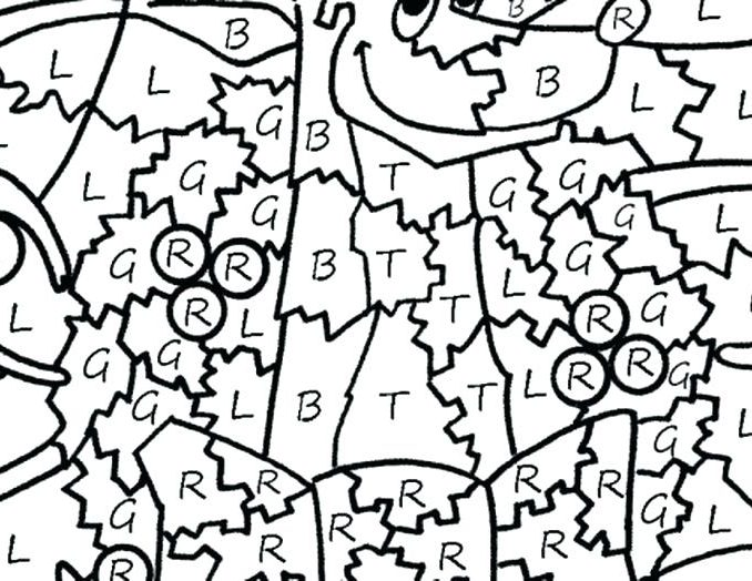 678x524 free printable christmas color by number coloring pages coloring