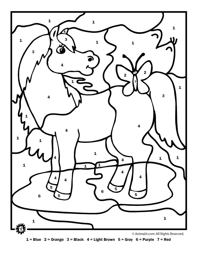 Color Coded Coloring Pages