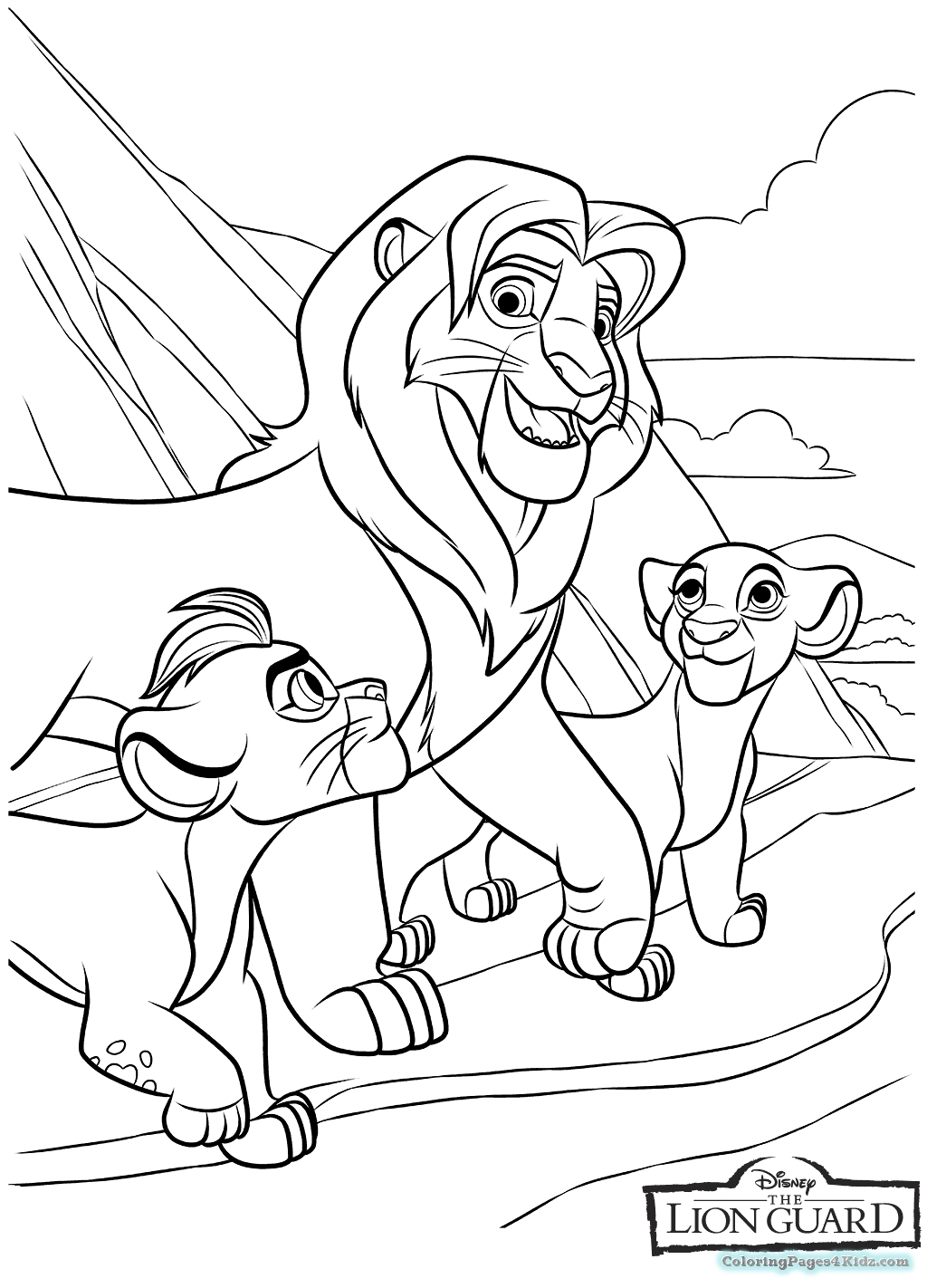 It's just an image of Sizzling Lion Guard Printables