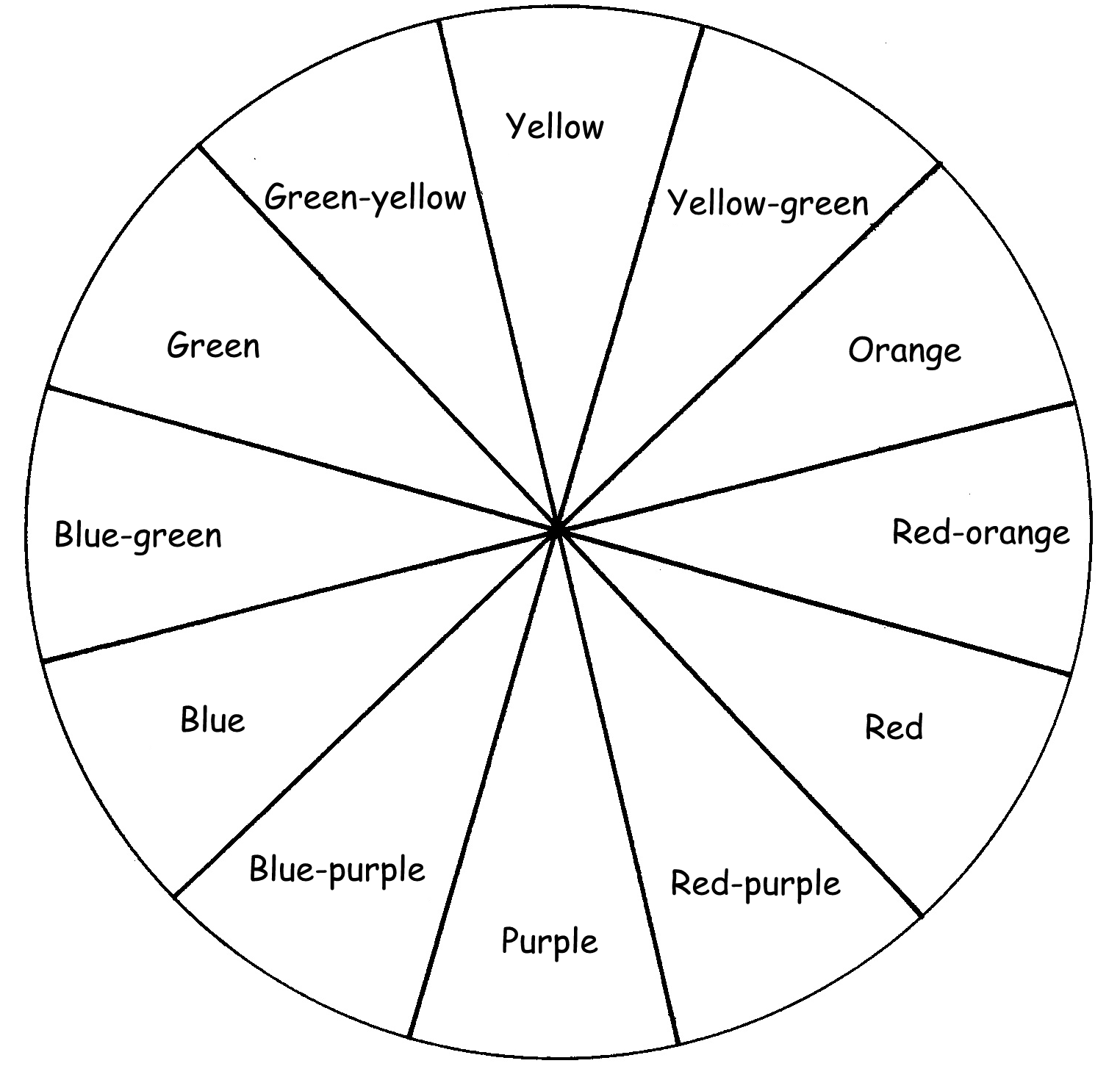 1524x1485 For Color Wheel Coloring Page