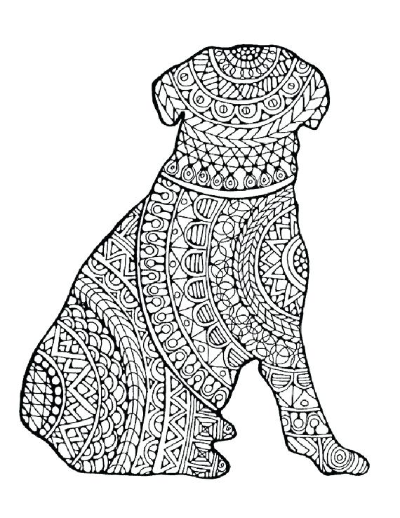 Coloring Pages For Adults Dogs