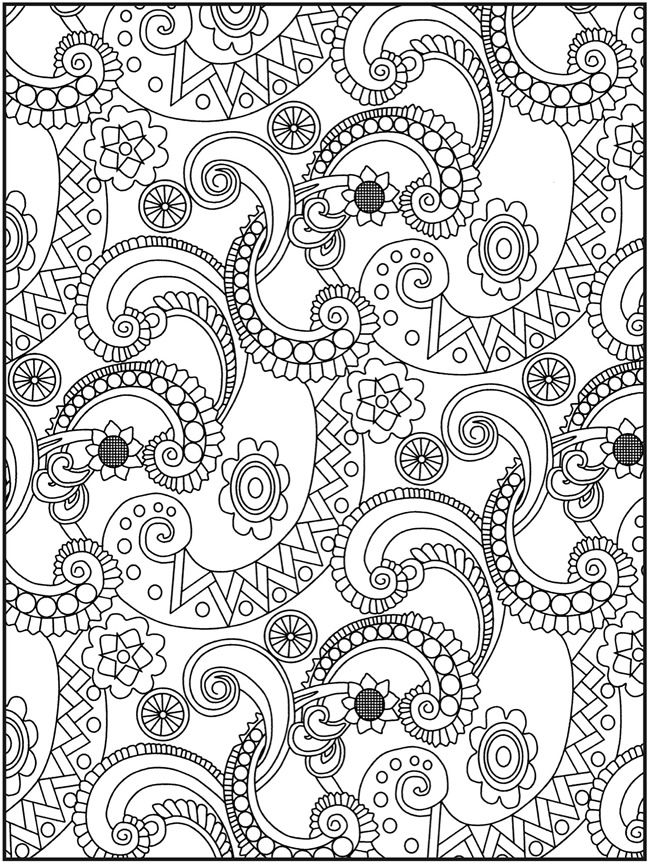Coloring Pages For Adults Paisley