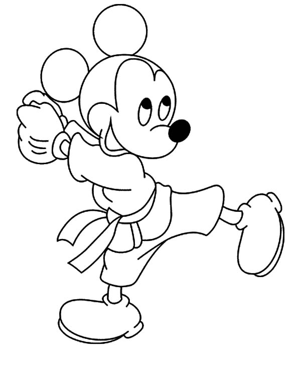 free karate coloring pages - photo#10