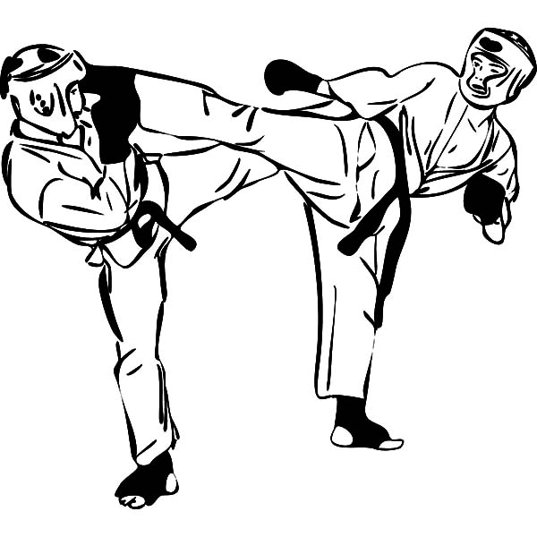 free karate coloring pages - photo#42