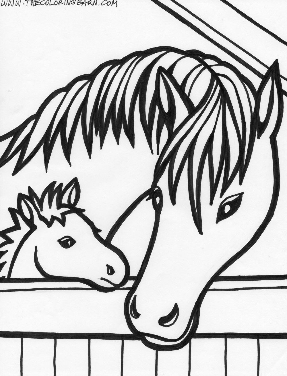 Coloring Pages Of A Horse Head