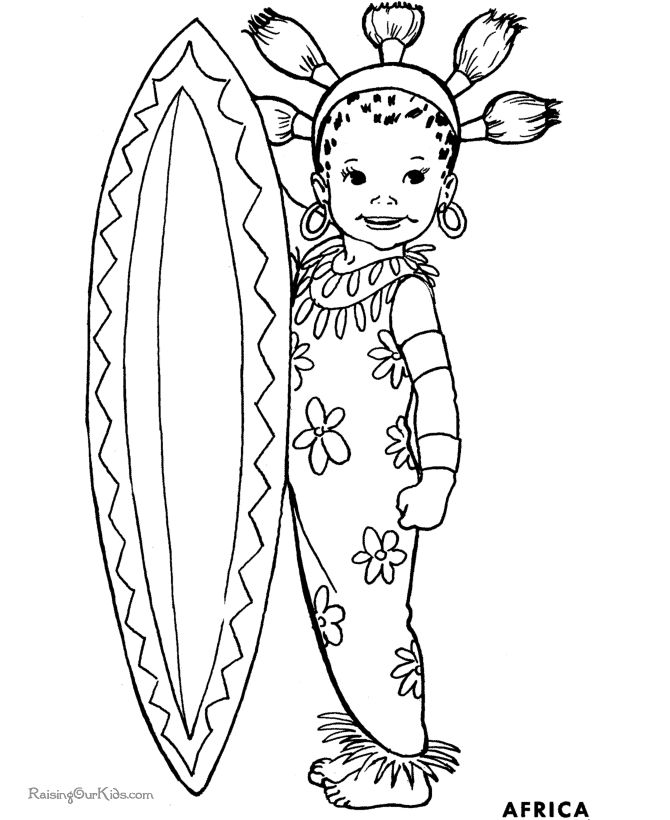 Coloring Pages Of Children Holding Hands