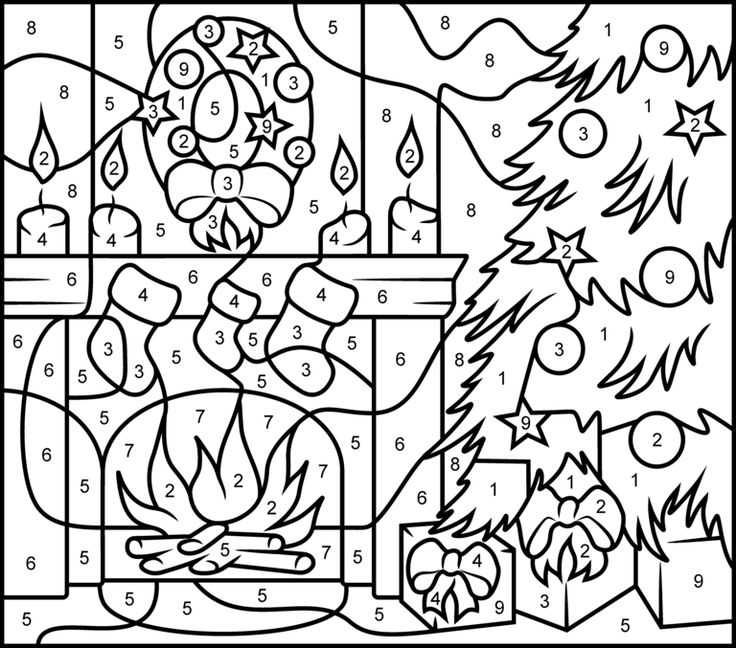 736x648 christmas pictures to color by code color number christmas sheets