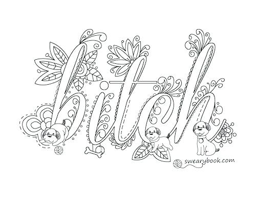 Cuss Word Coloring Pages Printable At Getcolorings Com Free