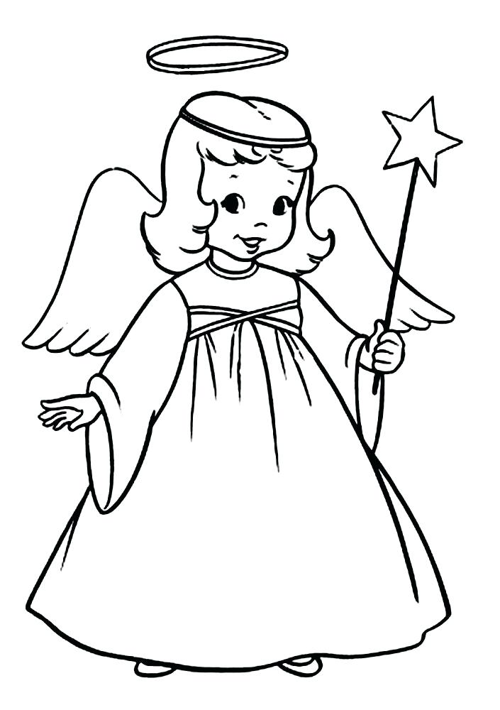 705x1000 Christmas Angels To Color Free Angel Coloring Pages Cute Angel 5