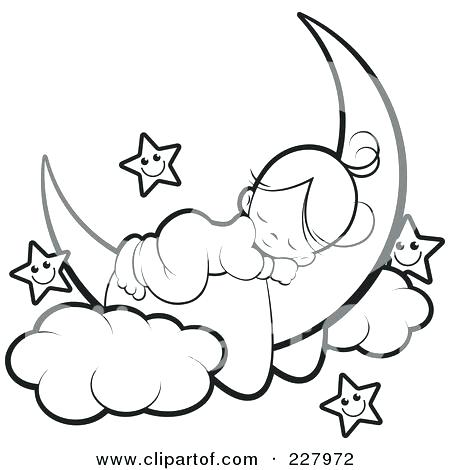 450x470 Coloring Pages Of The Moon Crescent Moon Coloring Page Fresh Ideas