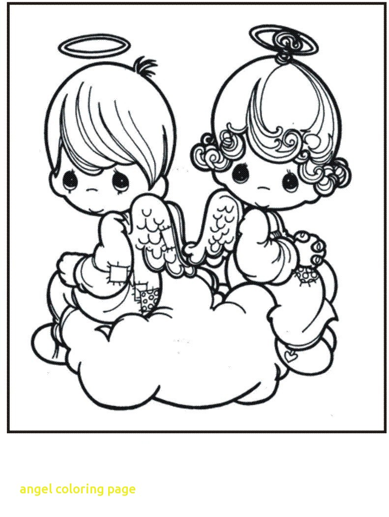 791x1050 Cute Angels Coloring Pages Print Popular Free Printable Angel