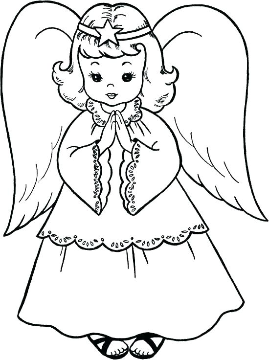 550x736 Free Angel Coloring Pages Angel Coloring Page With Free Angel