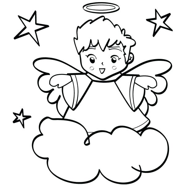 600x600 Halo Coloring Page Cute Angels Boy Halo Coloring Page Halo Elite