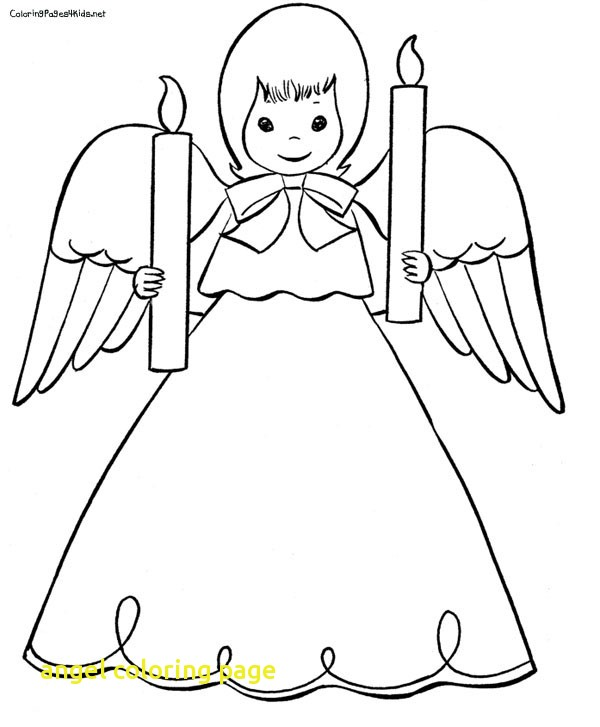 600x727 Angel Coloring Page With Free Angel Coloring Pages