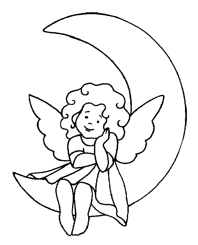 640x794 Angel Coloring Pages Download