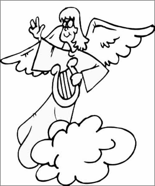 500x600 Angel Coloring Pages For All Kids Creative.