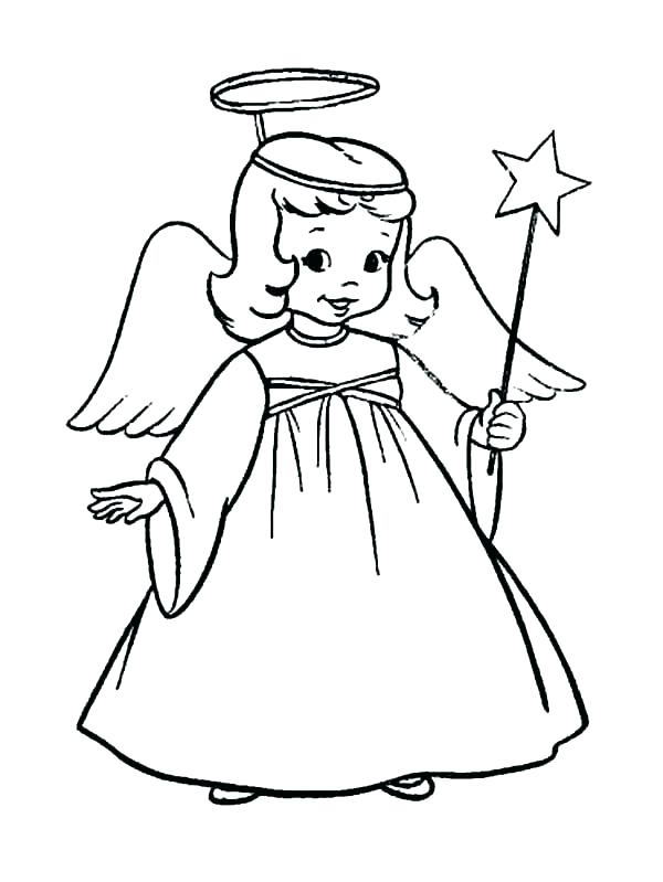 600x799 Angel Coloring Pages For Preschool Angels Coloring Pages Free