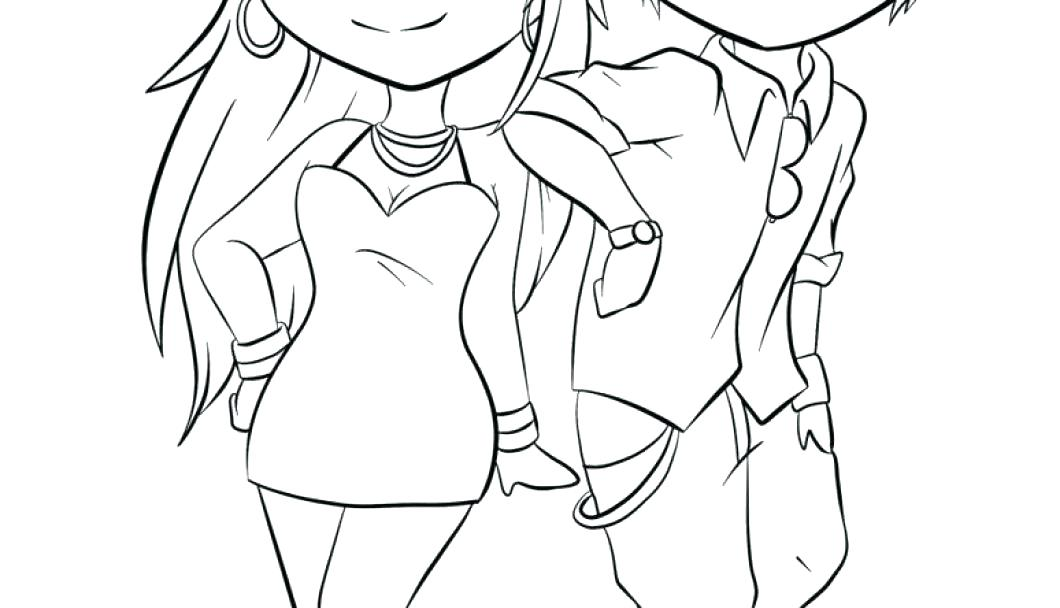 1060x608 Anime Couples Coloring Pages Romantic Couple Anime Coloring Page
