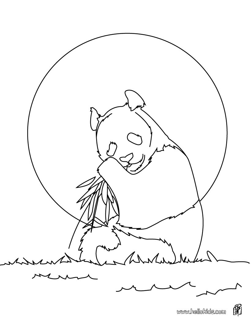 820x1060 Giant Panda Coloring Pages