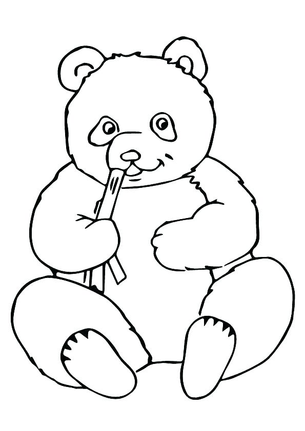 595x842 A Bear Coloring Pages Cute Sheets Printable Panda Coloring Pages